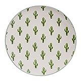 Plato De Loza Con Cactus Verdes Vajillas Modernas