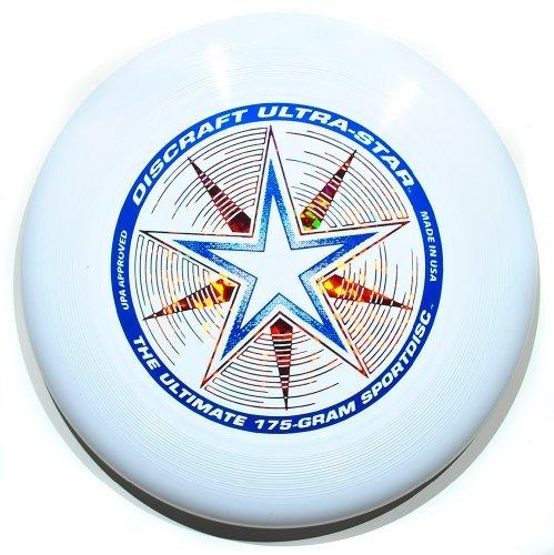 "Discraft Ultra-Star 175g Ultimate Frisbee ""Starburst"" - blanco"