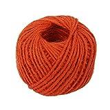Drawihi DIY Bastelschnur Jute Seil Gartenschnur Hanf Seil für Crafts Arts und Gardening Dekoration (Orange) 50m*2mm