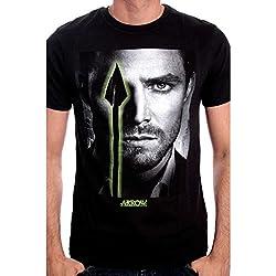 Flecha - Ojos T-Shirt - Camiseta proviene de la serie de televisión con el primer piso de Oliver Queen - Gargantilla negro - S