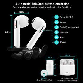Kindak-Compatible-para-Todos-Mviles-y-Android-Inalmbricos-Auriculares-Bluetooth-Wireless-In-Ear-Micrfonos-Manos-Libres-Cascos-Earbuds-Mini-Headphone-Earpods-Blanco