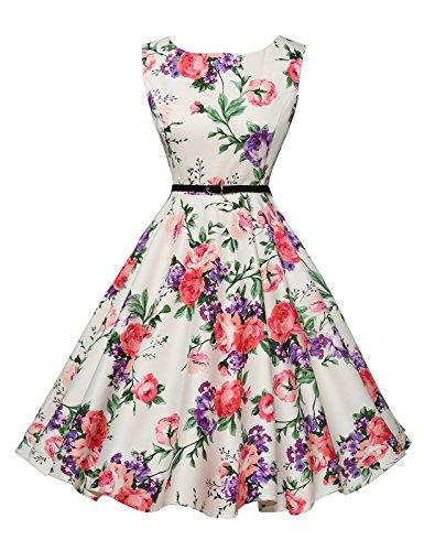 GRACE KARIN Abito da sposa partito dei vestiti Hepburn stile pannello esterno pieno delle donne...