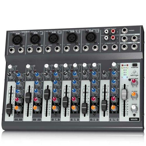 Behringer Xenyx 1002B-EU - Mezclador para DJ, 120 Db, 10-200000 Hz, 29.8 x 21.6 x 7.3 cm