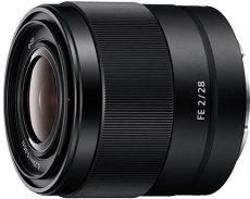 Sony FE 28 mm f/2 - Objetivo gran angular de montura tipo E (distancia focal fija 28 mm, apertura f/2 -f/22, diámetro filtro: 49mm, fotograma completo de 35 mm), negro
