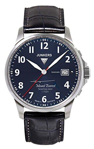 Junkers Herren Analog Automatik Uhr mit Leder Armband 68643