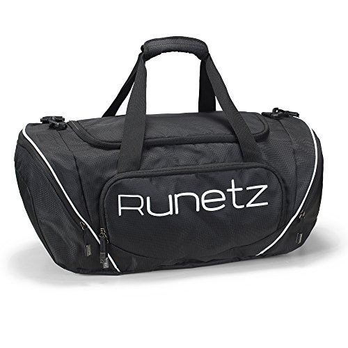 44732e50a60b Runetz – Gym Bag Travel Duffle Large 20″ – 30″ for Men   Women Shoulder  Duffel Sport