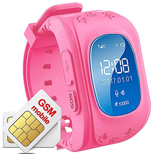 IVAZA Q50 GPS Tracker Anti-Lost Smart Watch for Kids Children Safety Band with Calling Feature Smartwatch for Android/iOS (Random Colors-As per Availability)
