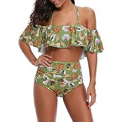 ZODOF Trajes de Baño de Una Pieza Mujer Push Up Monokini Un Hombro Sexy Bañador para Mujer Bikini Tanga Mujer Playa Brasileño Verano Ropa de Baño Tankini Natacion 2019
