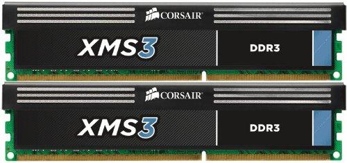 Corsair CMX16GX3M2A1600C11 XMS3 16GB (2x8GB) DDR3 1600 Mhz CL11 Performance Desktop Memory