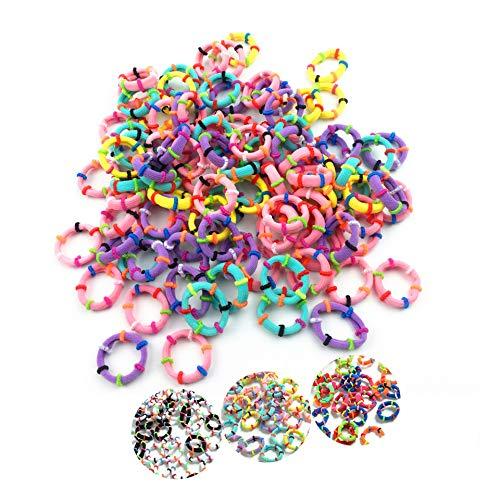 RETON 400 confezione da 2.5 cm fasce elastiche per capelli cravatte corda morbida elastici bande...