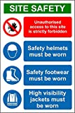 Construction/Building Site Safety Sign A4 SIZE WATERPROOF PVC