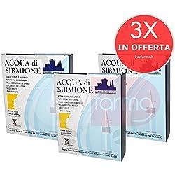 3X ACQUA DI SIRMIONE MENARINI - Spray 100% Acqua Termale Sulfurea per Igiene Quotidiana di Naso e Gola - 6 FLACONCINI da 15ml