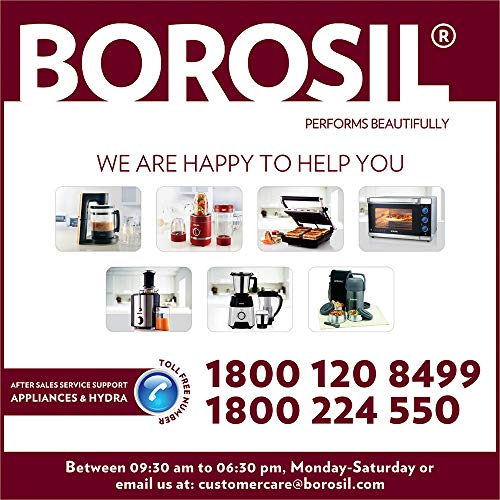 Borosil Plastic Chefdelite BCH20DBB21 300W Twin Blade Technology Chopper(Black,217897)