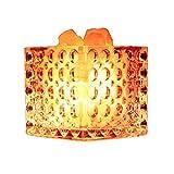 Kitzen Creativo Lámpara de mesa Lámpara de sal de cristal Luz de noche Lámpara de noche Cuarto cubo Regulador de intensidad 12 * 12CM Alta calidad