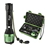 CVLIFE 1800Lm Zoomable T6 LED Lamp Light Flashlight Torch Free 18650 and 2 Chargers