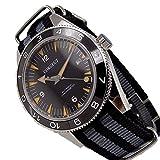 Corgeut Men's Automatic Analogue Digital Nylon Band Sapphire Glass Watch