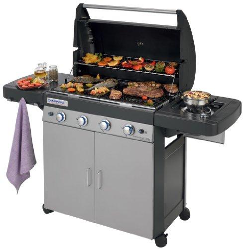 Campingaz Barbecue Gas 4 Series Classic LS Plus, Grill Barbecue con 4 Bruciatore e 1 a Lato, Potenza...
