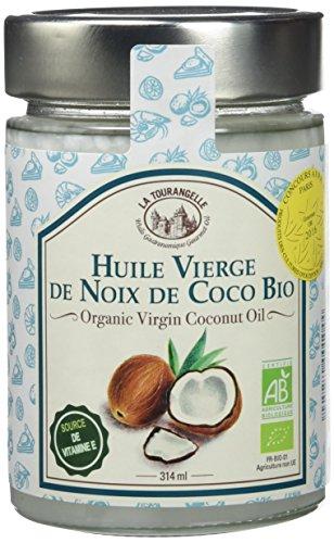 La tourangelle Huile Vierge de Noix de Coco Bio 314 ml - Lot de 3