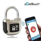 Candado plateado inteligente eGeeTouch Smart (de segunda generación), con tecnología de doble bluetooth + NFC para smartphones y Apple Watch
