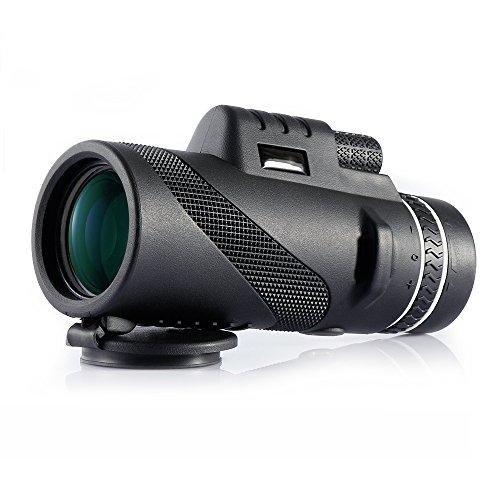 Monokular 40X60 HD Teleskop Wasserdicht Fernglas Tragbar Fernrohr mit BaK4 Dachkantprisma, Dual Fokussierung für Tier- oder Vogelbeobachtung Reise Jagd Ballspiel Konzert