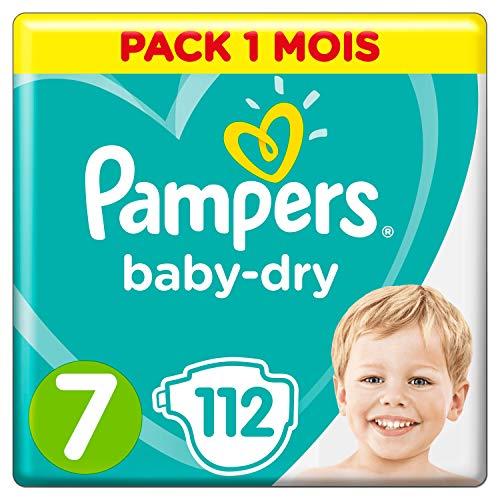 Pampers Dimensione 7, 112pannolini, per traspirante secchezza mese Box, 1er Pack (1X 112pezzi)