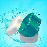 Kingnew bagno apparecchio protesi dentiera scatola portaoggetti di risciacquo cesto contenitore