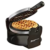 Belgian Waffle Maker Machine Rotary Electric Iron 180° with Non Stick Coated Cooking Plates, 920W (Grey)