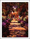 1art1 Claude Monet - Il Viale del Giardino Póster Impresión Artística (50 x 40cm)