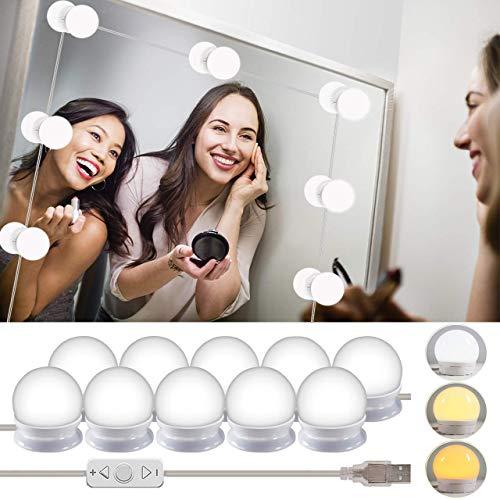 Wesho - Kit di luci LED per specchio di cortesia di Hollywood per trucco, lampada per specchio...