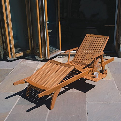 The Trueshopping Sun Lounger Amalfi Premium boasts an amazing quality and finish, which largely surpasses other hardwood loungers available at a significantly higher price. We found that the backrest has five settings and the legrest has two, meaning you can customise your comfort as you wish. The pictures on Amazon UK show some beautiful cushions on the frame but these are available at an extra cost. They're still in the affordable range.