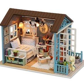 BOQIUTIA DIY Bungalow Hechos a Mano Ensamblar los Regalos creativos de la casa Modelo | Muebles para el hogar | Regalos de cumpleaños, z-007 sanlan Time