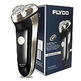 FLYCO Rasoir Electriques Hommes, Rechargeable Rasoir électrique Rotatif pour Homme avec Tondeuse de Précision et Chargeur, Ultra confort - FS361EU, Noir