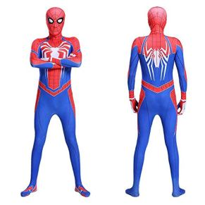 ERTSDFXA Traje De Spiderman Medias Cosplay Niños Adultos Disfraces De Halloween Fiesta Película Stretch Cosplay Body Party,Red-XXL