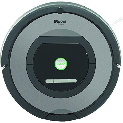 iRobot Roomba 772 - Robot aspirador, alto rendimiento de limpieza, programable, atrapa el pelo de mascotas, gris