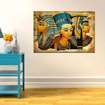 Arte de la Pared de la Lona,   Antiguo Egipcio Mural Completo de la Pintura al óleo 40 * 60Cm Egipto Pintura de la Pared Oil-Picture Completo de la Figura Pharaoh Home Decor 4