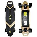 Hiboy Longboard Eléctrico de 4 Ruedas con Sensor de Gravedad Inteligente, Doble Motor, [7 Capas Tablero de Bambú] y Ranura para facilitar el Transporte - Modelo GS01