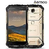 Cellulari in Offerta, AERMOO M1 Dual SIM IP68 Smartphone Impermeabile - Android 7.0 Telefoni Impermeabili - 4G 5.2 pollici FHD - Helio P25 Octa-core, 6GB RAM + 64GB ROM, 8.0MP + 21.0MP, 5580mAh - Oro