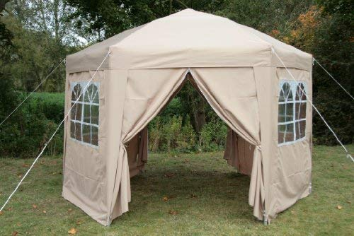 Available in an array of four colours, the Airwave 3.5mtr Pop up Gazebo is hexagonal in shape, therefore, offering more room to work with. With six wide legs anchored to the ground, this gazebo is stable and will not be easily moved by the wind. Having won the 'Best Buy Award' in The Amateur Magazine back in 2017, the brand has established itself as a dependable supplier of quality products.