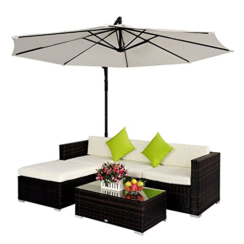 Outsunny-Rattan-Wicker-Conservatory-Outdoor-Garden-Patio-Furniture-Corner-Sofa-Set-without-Parasol-Brown