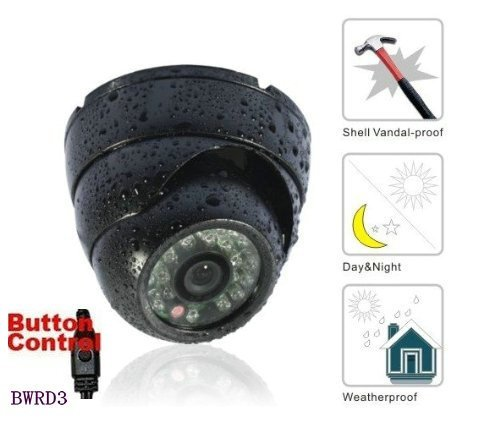 BW - Telecamera a cupola CCTV 700 TVL Sony CCD, a prova di ladrioe impermeabile, alloggiamento di metallo, colore: Nero