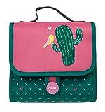 Estuche Cactus Verde Oscuro Y Rosa