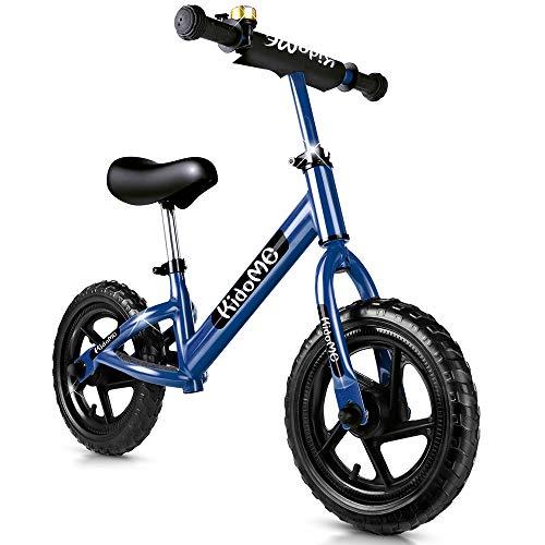 """KidoMe 12"""" Bicicletta da Equilibrio Prima Bici Senza Pedale Regalo per Bambini Acciaio al Carbonio..."""