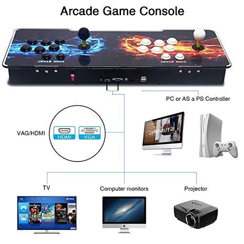 SeeKool Pandora 11 Console de Jeux vidéo Arcade, 2255 en 1 Console de Jeux vidéo HD Retro, Commandes de Jeu à 2 Joueurs Double Stick Arcade ... 23