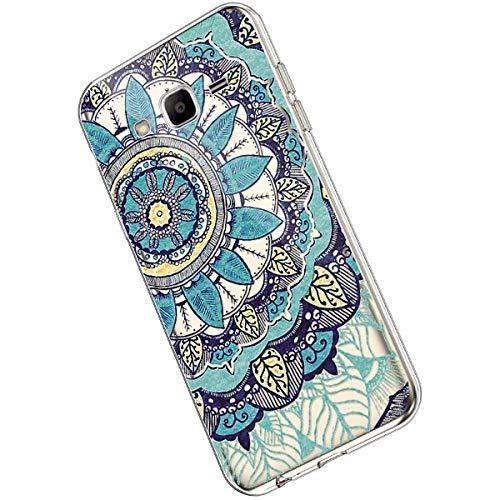 Ukayfe Compatible con Samsung Galaxy J3 2016 Custodia,Trasparente Silicone con Disegni Fiore di...