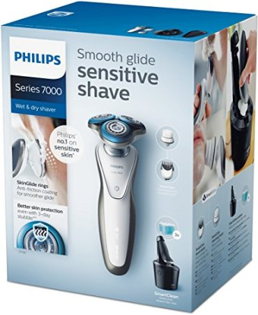 Philips-S778064-Afeitadora-electrica-uso-en-seco-y-humedo-incluye-smartclean-barbero-cepillo-cara-y-funda-de-viaje