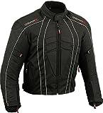 Dry-Lite Uomo Giacca da Moto Impermeabile Protezione Cappotto , Medio