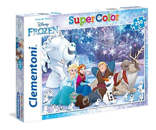 Clementoni - 29741 - Supercolor Puzzle - Frozen, Real Friends Make Real Magic - 250 Pezzi - Disney