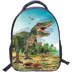 Jiyaru Imprimir Mochila Dinosaurio Patrón para Niños Bolso De Escuela De Guardería #4