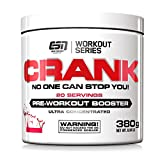 ESN Crank, Pre-Workout Booster, Cola, Workout Series, Dose mit Dosierlöffel, 1er Pack (1 x 380 g)
