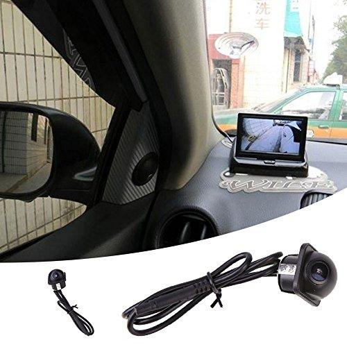 TOPmountain - Telecamera Laterale per Auto, videocamera HD con Versione Notturna Impermeabile e Visione grandangolare per Camion universali SUV Bus per Camper